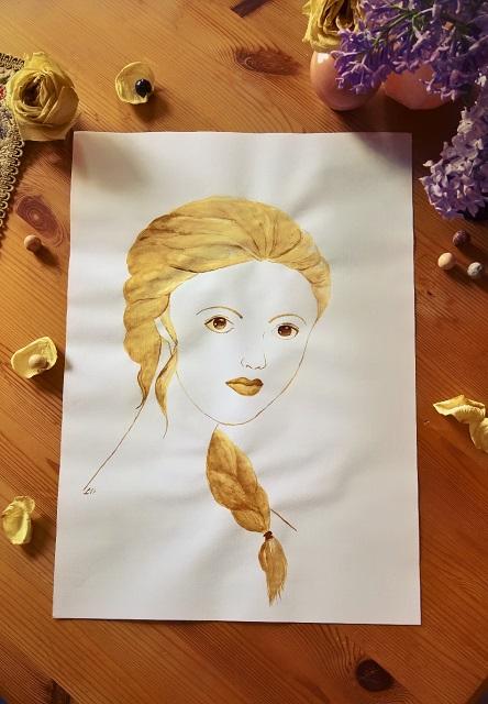Kaffee Malerei Geschenk Portrait Kunst Elsa Frozen