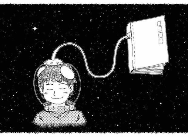 illustration-schwarz-weiß-lernen-comic-buchzusammenfassung-deutsch